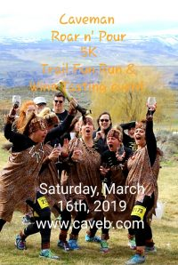 The Caveman 5K Roar and Pour Trail Fun Run and Wine Tasting Event is now in its 6th year and keeps getting bigger